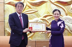 Japanese outgoing ambassador honoured