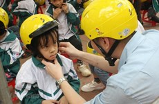Helmet wearing among children reaches 70 percent