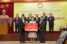 More than 400 bln VND raised for COVID-19 prevention work