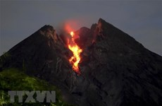 Most active volcano in Indonesia erupts again