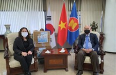 Vietnamese associations in RoK donate 3,000 face masks for COVID-19 fight