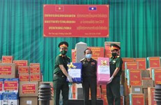 Vietnam presents Laos with medical supplies for COVID-19 fight