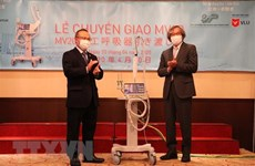 Japanese ventilators handed over to help fight COVID-19