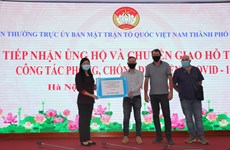 Donations worth 4.3 million USD help with Hanoi's anti-pandemic efforts