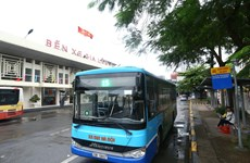 Hanoi resumes 104 bus routes as social distancing eased