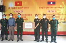 Military Region 4 High Command presents medical supplies to Lao armed forces