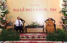 Deputy PM Binh extends greetings to Buddhist followers