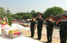 Remains of Vietnamese fallen soldiers in Laos reburied in Quang Binh