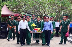 Reburial service for martyrs in Ha Giang