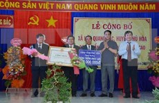 Phu Yen has first advanced new-style rural commune