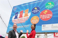 British Embassy helps set up billboards to raise awareness about human trafficking