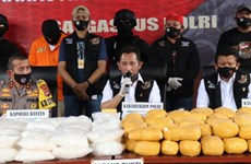 Indonesian police seize 821kg of crystal meth