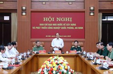 Development of national defence-security industry reviewed