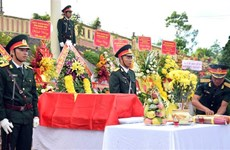 Remains of soldiers reburied in Quang Nam