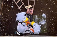 British man rescued after six days trapped in well in Indonesia