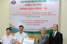 Tropical diseases hospital receives two drug parcels to fight COVID-19