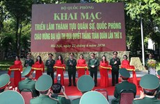Exhibition displays Vietnam's military and defence achievements