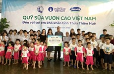 82,000 glasses of milk to be given to disadvantaged children in Thua Thien-Hue