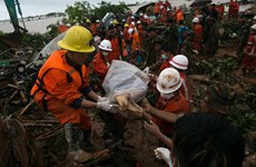 At least 50 die in jade mine landslide in Myanmar