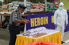 Myanmar seizes large haul of narcotic drugs