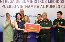 Defence Ministry donates medical supplies to help Cuba fight COVID-19
