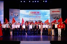 Over 100,000 national flags presented to fishermen
