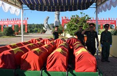 Remains of 52 soldiers reburied in Dong Thap province