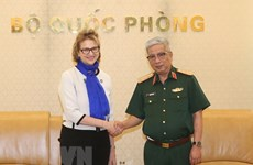 Defence Deputy Minister receives UNDP Resident Representative