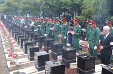 Remains of soldiers reburied in Binh Phuoc