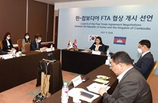 Cambodia, RoK launch first round of FTA negotiations