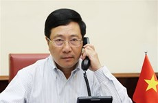 Deputy PM Pham Binh Minh holds phone talk with US Secretary of State