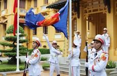 Hanoi flag hoisting ceremony marks ASEAN's 53rd founding anniversary