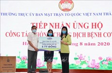 Hanoi receives 50,000 COVID-19 sample collection kits from Vinamilk