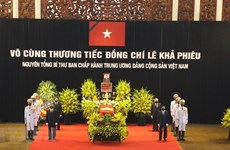 National mourning held for former Party leader Le Kha Phieu