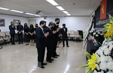 Ceremonies held overseas for former Party leader