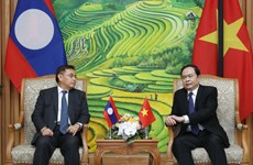 Fatherland Front leader receives Lao counterpart
