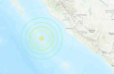 Twin earthquakes rock Indonesia's Sumatra island