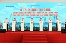 Work starts on over-215-million-USD bridge in Mekong Delta