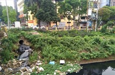 Hanoi's river water remains polluted