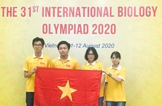 Vietnam wins four prizes at Int'l Biology Olympiad 2020