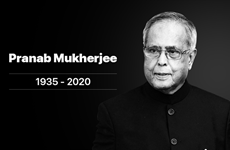 Condolences to India over death of former President Pranab Mukherjee