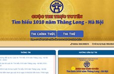 Online quiz on 1,010-year history of Thang Long-Hanoi gets going