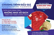 Next Media, Hanoi FC launch auction to support COVID-19 fight