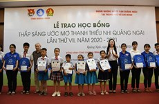 Scholarships assist disadvantaged students' learning efforts in Quang Ngai