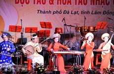 Traditional instrument solo and orchestra contest held in five cities