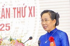 Le Thi Thuy reelected as Secretary of Ha Nam Party's Committee