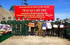 Gifts presented to Lao armed forces, border residents