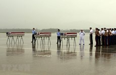 Repatriation ceremony for suspected remains of US serviceman