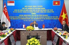Vietnam, Singapore hold ministerial conference on cyber security