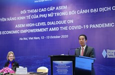 ASEM dialogue promotes women's economic empowerment amid COVID-19